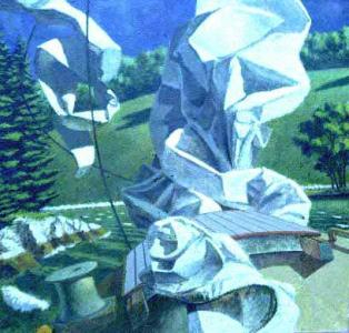 "Morning Wind  2002 38""x38""<br/> Private collection"