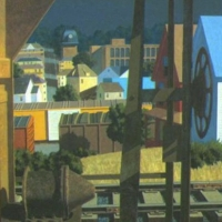 Freights in Afternoon Sunlight <br> Private Collection