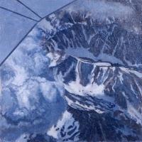 "Old Snow—Sierras  2004 16"" x 16"""