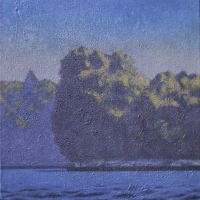 "Riverscape 1973 38""x32""<br/> Private collection"