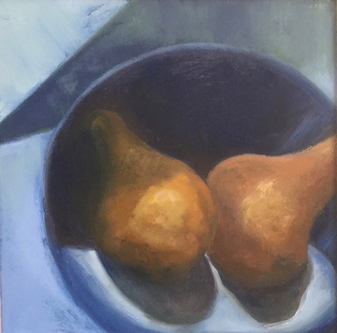 "PATTI BRADLEY ""TWO PEARS"" 11.5"" X 11.5"""